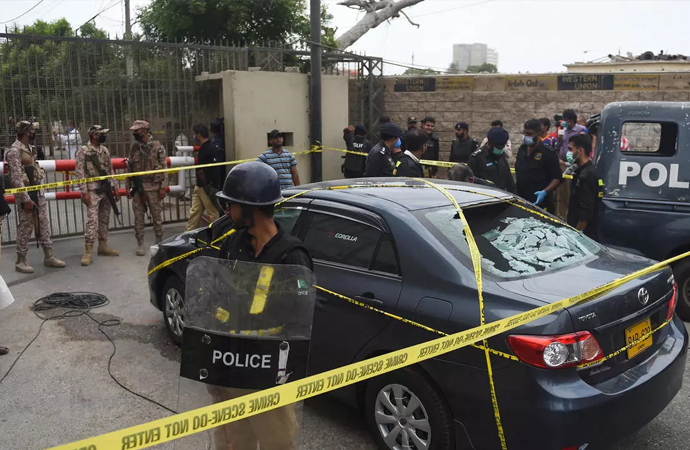 Pakistan'da menkul kıymetler borsasına silahlı saldırı