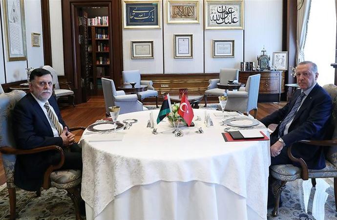 Cumhurbaşkanı Erdoğan, Libya Başbakanı Serrac görüşmesi