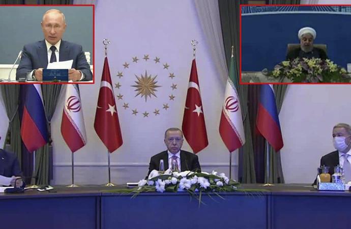 Türkiye-Rusya-İran üçlü zirve sonrası ortak açıklama