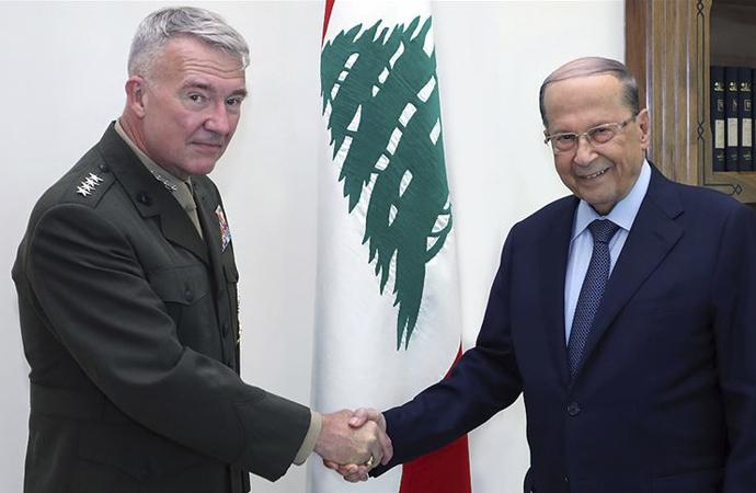 Amerikalı komutan Lübnan Cumhurbaşkanlığı Sarayında
