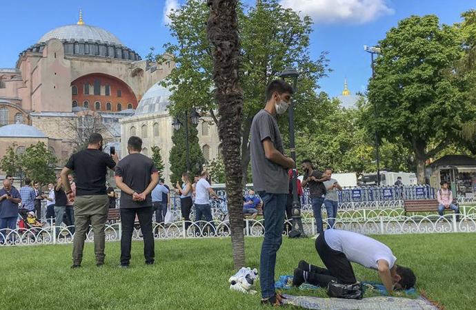 Ayasofya Camii 'çekim merkezi' oldu
