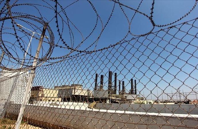 Gazze'deki elektrik santralinde üretim durdu