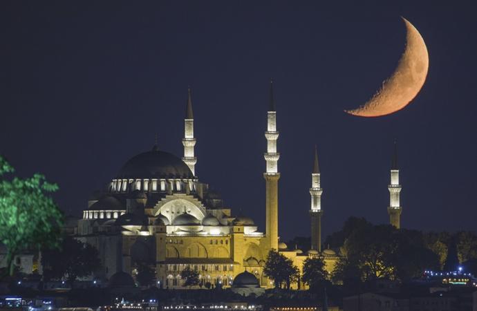 Hilal ile Süleymaniye'nin eşsiz görüntüsü
