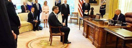 Sırbistan Cumhurbaşkanı Vucic, Trump'ın huzurunda!