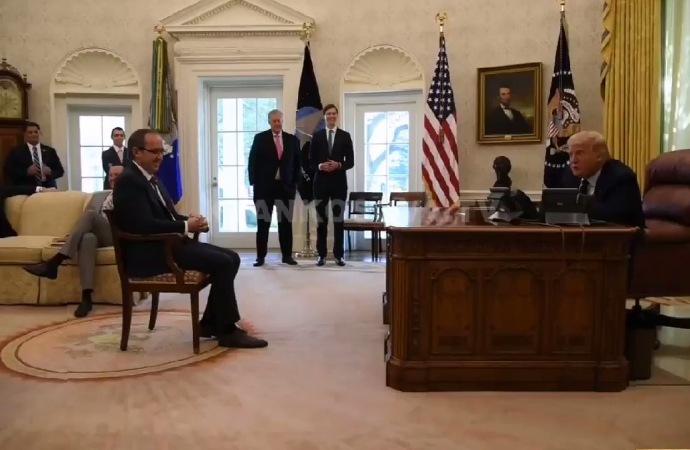 Kosova Başbakanı Hoti, Trump'ın huzurunda!