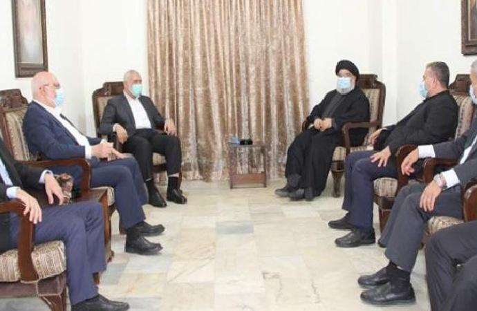 Heniyye ile Nasrallah Beyrut'ta bir araya geldi