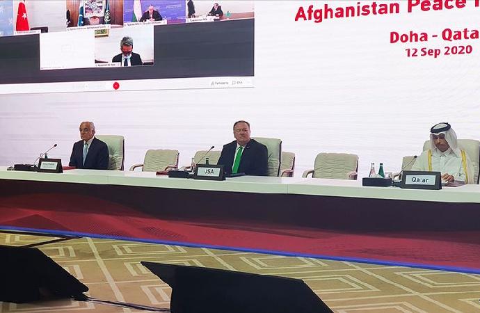Afganlar arası barış müzakereleri Pompeo'nun konuşması ile başladı
