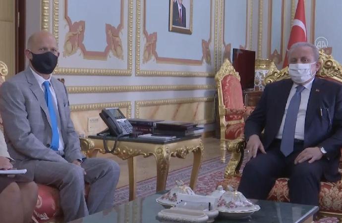 İngiltere Büyükelçisi, TBMM Başkanı Şentop'u ziyaret etti