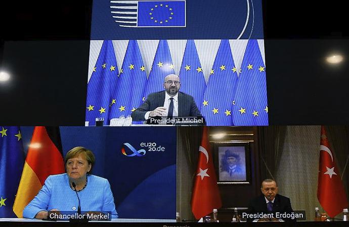 Michel, Merkel ve Erdoğan görüşmesi