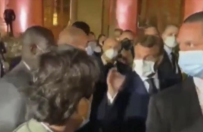Macron, Nasrallah ile yaptığı görüşmeyi haberleştiren gazeteciyi azarladı