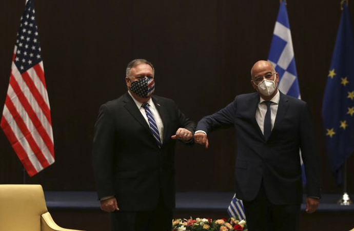 ABD Dışişleri Bakanı Pompeo, Yunanistan'da