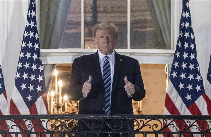 Koronaya yakalanan Trump, 4 günde taburcu oldu