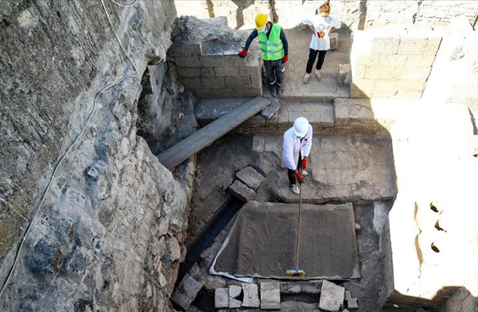 Amida Höyük'teki arkeolojik kazıda 'kalorifer sistemi' bulundu