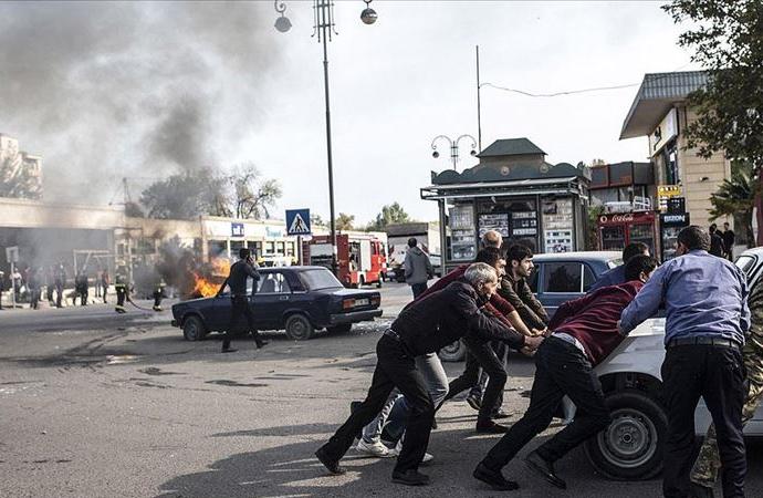 Ermeniler, Berde şehir merkezinde sivilleri vurdu: 21 ölü