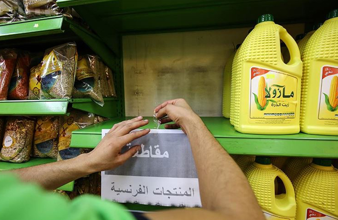 Kudüs'teki marketler Fransız mallarının satışını durdurdu