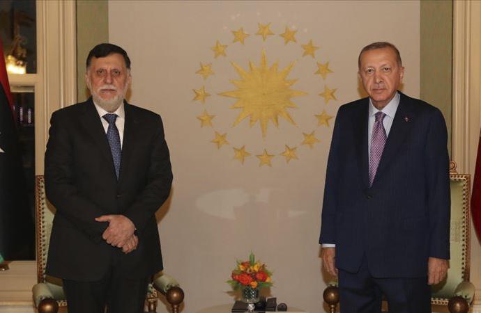 Libya heyeti Erdoğan'ı İstanbul'da ziyaret etti