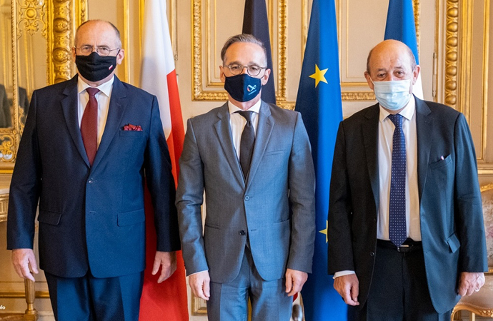 Almanya, Fransa ve Polonya dışişleri bakanları buluştu