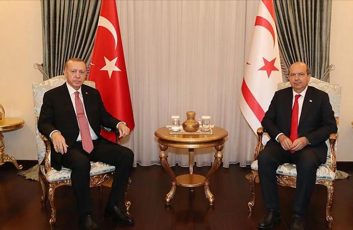 Cumhurbaşkanı Erdoğan, KKTC Cumhurbaşkanı Tatar görüşmesi