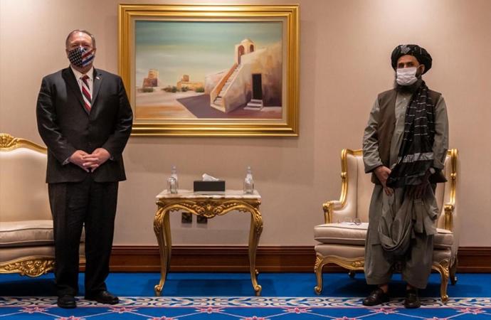 Pompeo, Taliban ve Afgan heyetleriyle görüştü