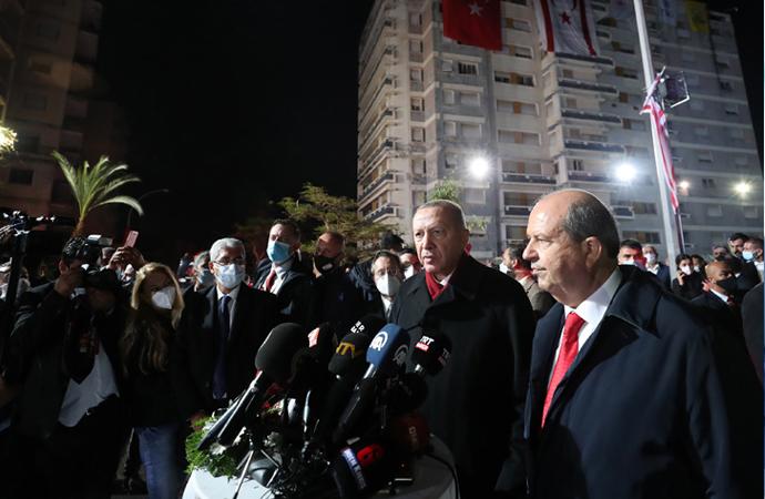Erdoğan, Kapalı Maraş'ı ziyaret etti