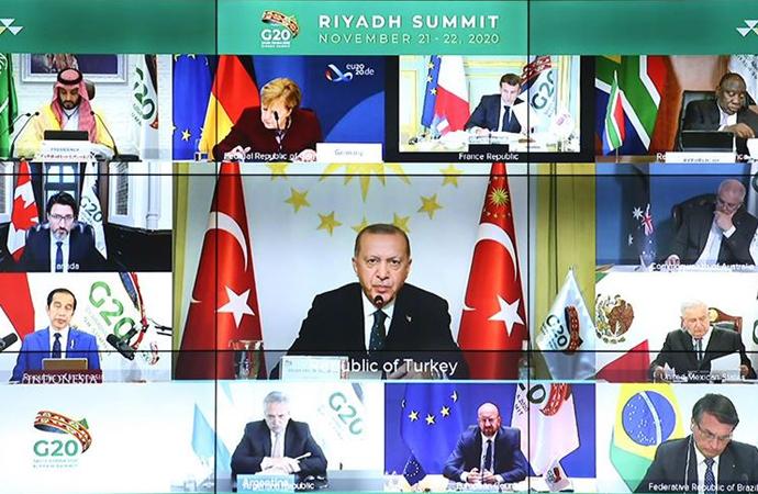 Erdoğan, G-20 Liderler Zirvesi ikinci oturumunda konuştu