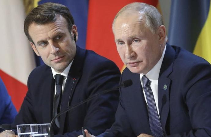 Putin ve Macron, Dağlık Karabağ'ı konuştu