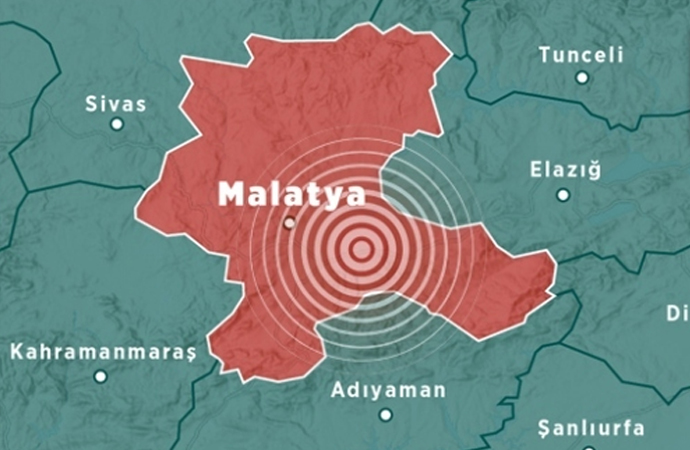 Malatya'da 4,7 büyüklüğünde deprem