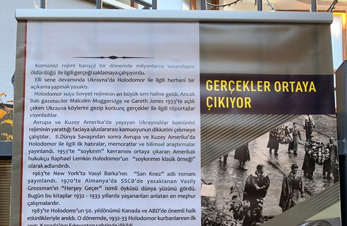 Ukrayna'nın Ankara Büyükelçiliğinden Holodomor sergisi