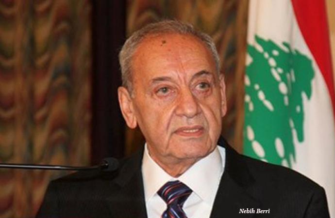 Nebih Berri, Beyrut'ta Fransa'nın böyle sorumlusu ile görüştü