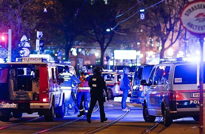 Avusturya'nın başkenti Viyana'da silahlı çatışma