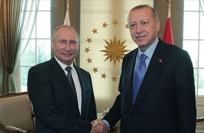 Erdoğan, Rusya Devlet Başkanı Putin'le görüştü