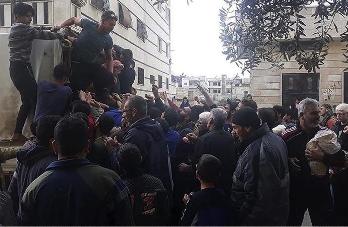 Esed rejimi bölgesindeki 'ekmek krizi'