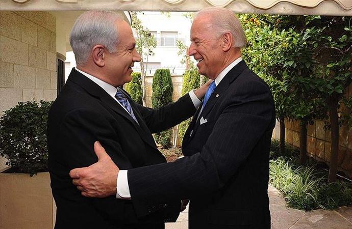 İşgalci İsrail'den Biden'a tebrik, Trump'a teşekkür