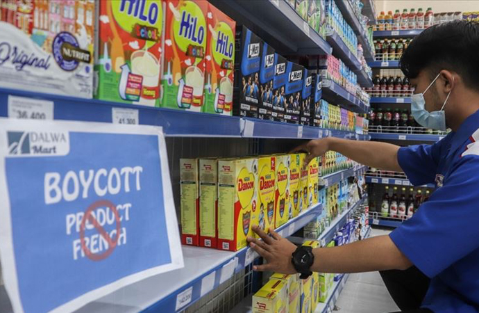 Endonezya'da bazı market zincirleri Fransız ürünlerinin satışını durdurdu