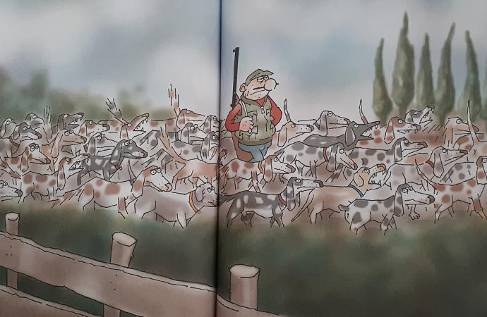 """Latif Demirci'nin """"Köpek Sürülü Avcı"""" Karikatürü"""