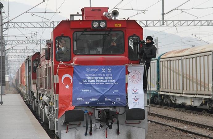 Çin, Türkiye'den yola çıkan ilk ihracat treninden memnun