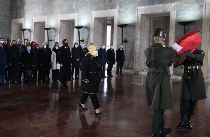 Zehra Zümrüt Selçuk, Anıtkabir'i ziyaret etti