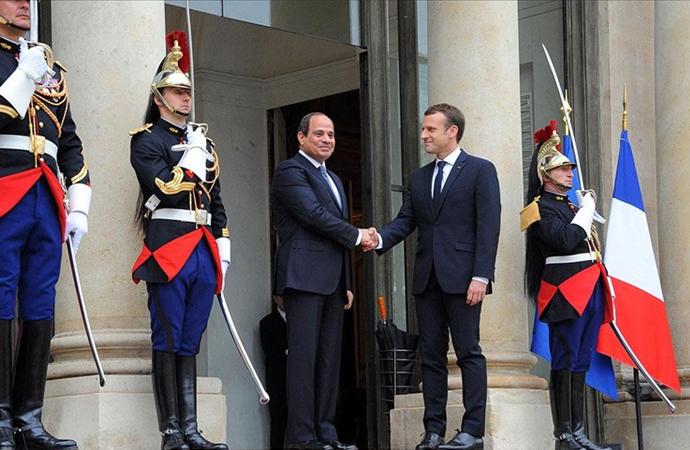 Fransa karşıtı kampanyaya katılmadıkları için Macron'dan Sisi'ye teşekkür
