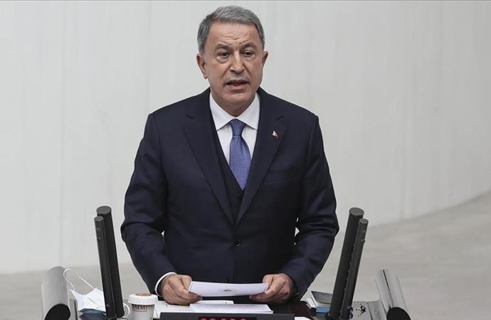 Bakan Akar, Bakanlığının faaliyetleri ve bütçesi hakkında bilgi verdi