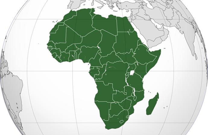Afrika'nın doğal kaynaklarının haritası