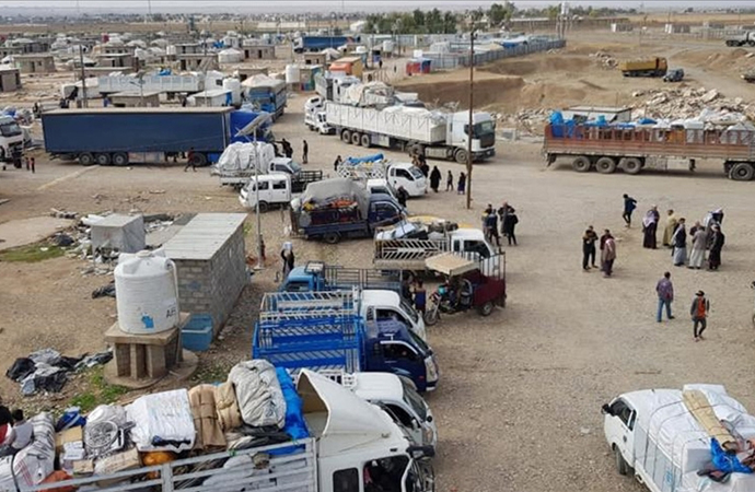 Irak'ın Kerkük ve Diyala kentindeki iç göçmenlere ait tüm kamplar kapatıldı