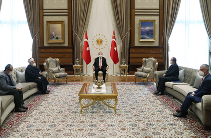 Erdoğan, Mescid-i Aksa İmamı İkrime Sabri'yi kabul etti