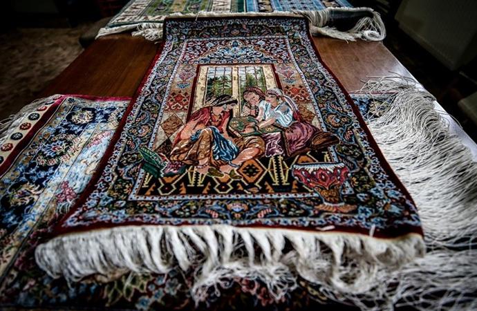 Bursa'nın kırsal mahallelerinde üretilen 'ipek halılara' dünyadan talep var