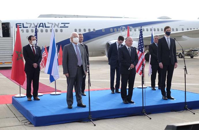 İsrail'li ve ABD'li heyet ilk resmi ziyaret için Fas'a gitti