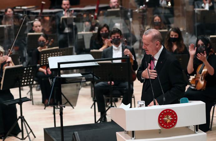 Erdoğan, CSO Konser salonunun açılışını yaptı