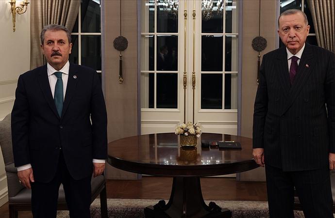 Erdoğan, BBP Genel Başkanı Destici ile görüştü