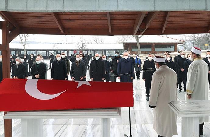Erdoğan ve Soylu, Nur Vergin'in cenaze namazında