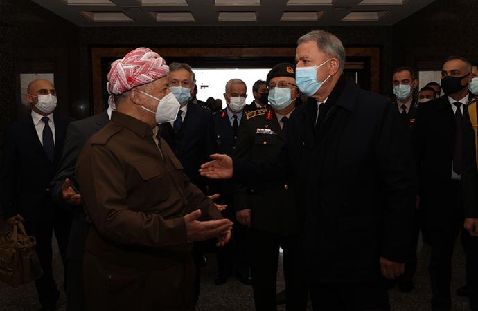Hulusi Akar – Mesud Barzani görüşmesi
