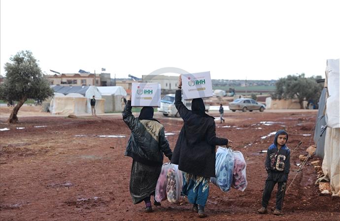 İHH'dan İdlib'deki su baskını mağdurlarına yardım