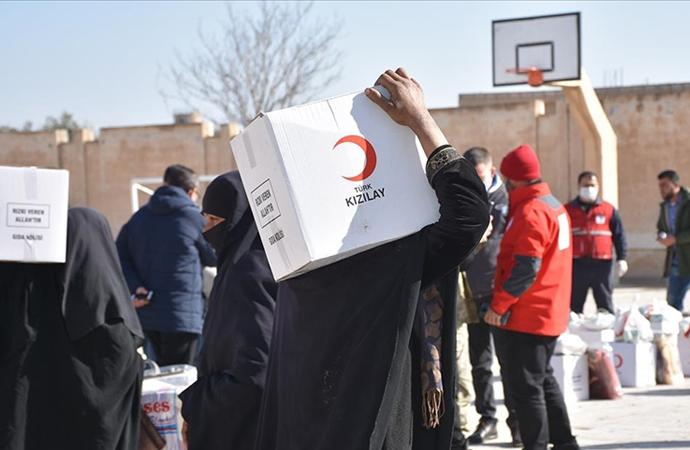 Barış Pınarı harekatı bölgesine Türkiye'den 426 insani yardım faaliyeti